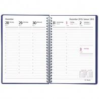 HERLITZ Buchkalender NATURE A5 2020 mit Spirale 1 Woche = 2 Seiten blau / grün