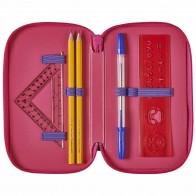 HERLITZ Schüleretui Triple Decker Pink Cubes 31tlg. 3-fach