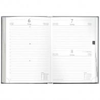 HERLITZ Buchkalender / Chefkalender A5 2021 schwarz 1 Tag = 1 Seite