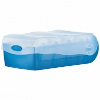 HAN Karteibox Croco A8 998-643 blau-transluzent
