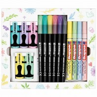 EDDING Pastell Colouring Promo Set 15-teilig Lackmarker 751, Fasermaler 1200, Highlighter 7