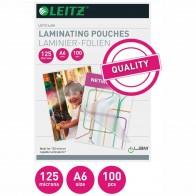 LEITZ Laminierfolie 33806 A6 125mic glänzend 100 Stück