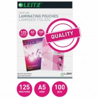 LEITZ Laminierfolie 33807 A5 125mic glänzend 100 Stück