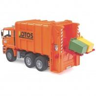 BRUDER 02762 MAN TGA Müll-LKW Hecklader (orange)