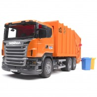 BRUDER 03560 SCANIA R-Serie Müll-LKW (orange)