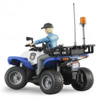 BRUDER 63010 Polizei Quad mit Polizistin und Ausstattung