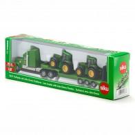 SIKU 1837 Tieflader mit John Deere Traktoren 1:87