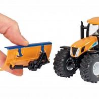 SIKU 2940 Traktor mit Räumschild und Streuer