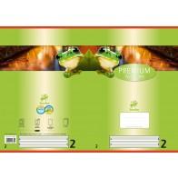 Schulheft  A4 16Bl 90g Lin2 Premium liniert farb hinterl