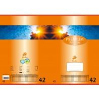 Schulheft  A4 16Bl 90g Lin42 Premium kariert m Umrandung