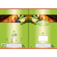 Schulheft  A4 32Bl 90g Lin1 Premium liniert farb hinterl
