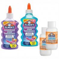 ELMERS Slime Starter Kit 4-teiliges Set Glitzer Klebstoff + Aktivator