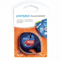 DYMO LetraTag Schriftband 91223 Kunststoff 12mmx4m rot