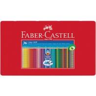 FABER CASTELL Farbstift COLOUR GRIP 2001 36 Stück Metalletui