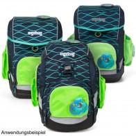ERGOBAG Seitentaschen Zip-Set grün für PACK CUBO CUBO light