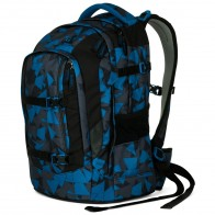 SATCH Schulrucksack pack Blue Triangle