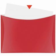 VELOFLEX Dokumententasche A4 mit Druckknopf und Tasche rot