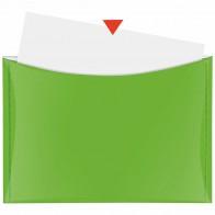 VELOFLEX Dokumententasche A4 mit Druckknopf und Tasche grün