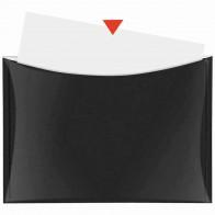 VELOFLEX Dokumententasche A4 mit Druckknopf und Tasche schwarz