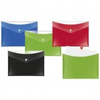 VELOFLEX Dokumententasche A5 mit Druckknopf und Tasche rot