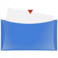 VELOFLEX Dokumententasche DL mit Druckknopf und Tasche blau