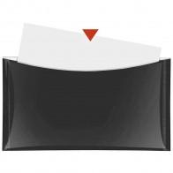 VELOFLEX Dokumententasche DL mit Druckknopf und Tasche schwarz