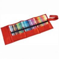 STABILO Fasermaler Pen 6830-2 30 Farben Roller-Etui 1-2mm