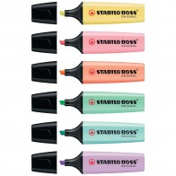 STABILO Textmarker BOSS pastel 70/6-2 6 Farben im Etui