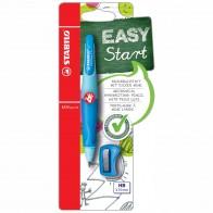 STABILO Druckbleistift EASYergo R 3,15mm hellblau / dunkelblau + Spitzer