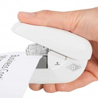 WEDO Heftgerät klammernlos bis 5 Blatt weiß