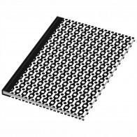 RNK Kladde A5 -black & white- Collier dotted 96 Blatt
