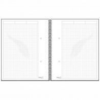 RNK Spiral-Notizbuch A5 / 96 Blatt -notes carbon black- kariert