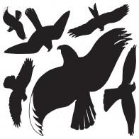AVERY Fensterwarnvögel 4485 Vögel schwarz 6 Stück