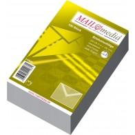 MAILMEDIA Briefumschlag C6 ohne Fenster naßklebend weiß 100 Stück