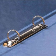 PAGNA Ringbuch 44100 A4 16mm 2-Ring mit Gummizug blau