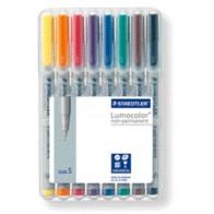 Folienstift Lumocolor S 8St Box non-permanent superfein