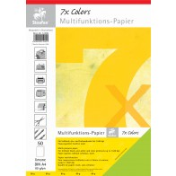 Multifunktspapier 7X A4 50Bl 80g limone hfrei