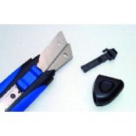 WEDO Cutter Softgrip 18mm blau/schwarz incl. 2 Ersatzklingen
