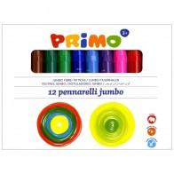 PRIMO Fasermaler Jumbo mit Multispitze 1-7mm 12 Stück