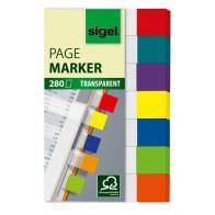 SIGEL Haftmarker HN677 Folie 50x84mm transparent 7 Farben