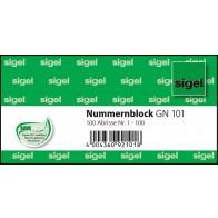 Nummernblock 10,5x5 1-100 1Bk