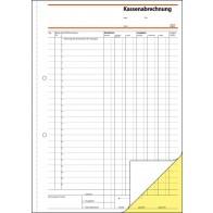 SIGEL Kassenabrechnung SD006 A4 2x40 Blatt selbstdurchschreibend