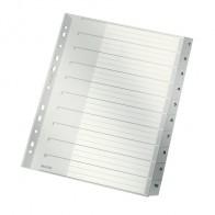LEITZ Register A4 1280 1-10 PP Überbreite 10-teilig