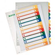 LEITZ Register 1294 1-12 bedruckbar 12-teilig