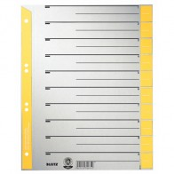 LEITZ Trennblätter 1652 A4 230g Tab gelb