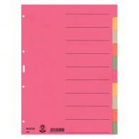 LEITZ Blanco-Kartonregister A4 10-teilig, 5 Farben
