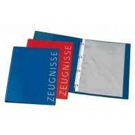 VELOFLEX Zeugnisringbuch A4 4-Ring 16mm dunkelblau incl. 10 Hüllen