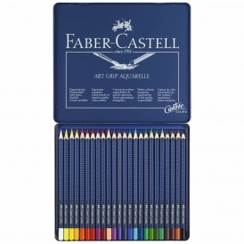 FABER CASTELL Farbstift ART GRIP AQUARELLE 24 Farben im Metalletui