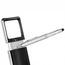 WEDO Touchpen Multi-Tool Mini schwarz oder silber mit cm-Aufdruck
