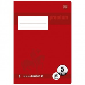 STAUFEN Premium Heft A5 16 Blatt LIN 5